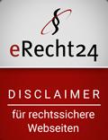 eRecht24 | Disclaimer für rechtssichere Webseiten